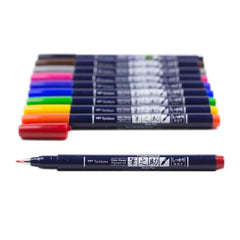 FUDENOSUKE BRUSH PENS : COLOURS SET : 10PK