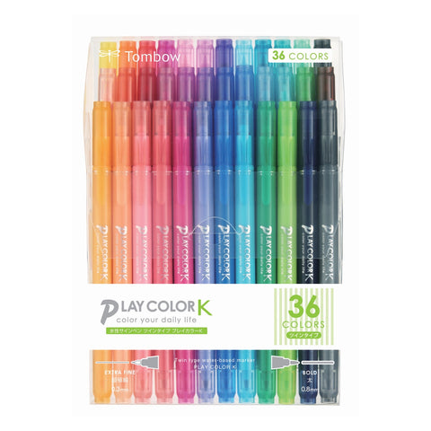 PLAY COLOR K TWIN-TIP MARKER PENS : 36PK