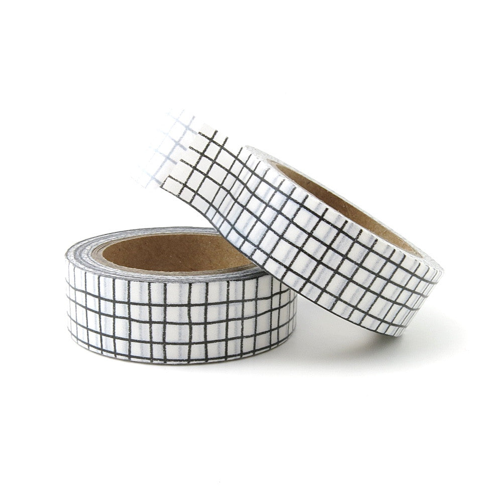 WASHI TAPE AUSTRALIA - BLACK GRID WASHI TAPE - GRAPH PAPER WASHI - WASHIGANG