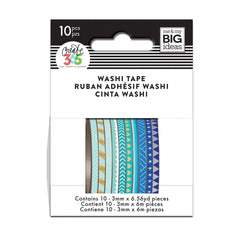 BLUE HUES SKINNY WASHI TAPE : THE HAPPY PLANNER