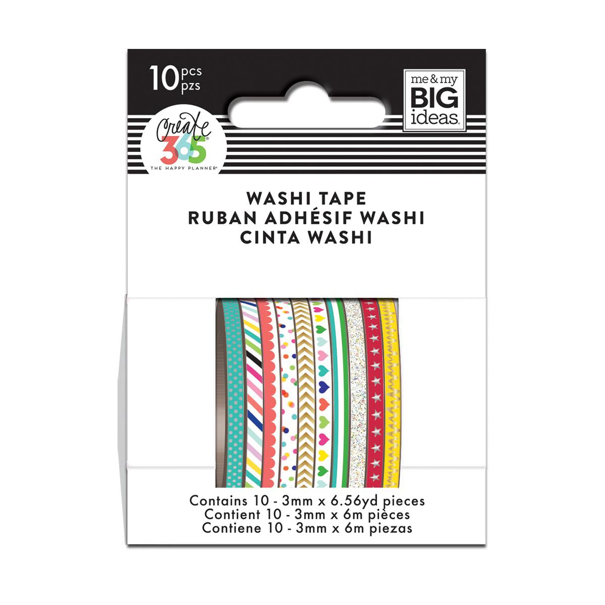 BRIGHTS SKINNY WASHI TAPE : THE HAPPY PLANNER