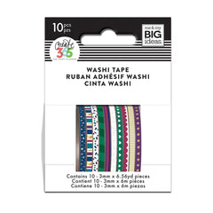 WTSS-05 Jewel Tones Skinny Washi Tape - The Happy Planner