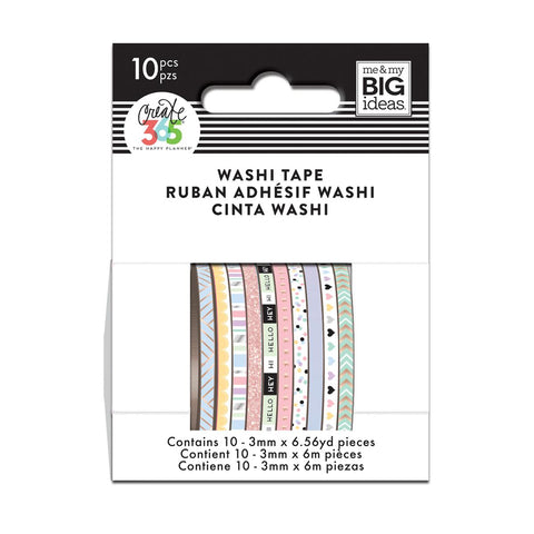 WTSS-06 Pastel Skinny Washi Tape - The Happy Planner
