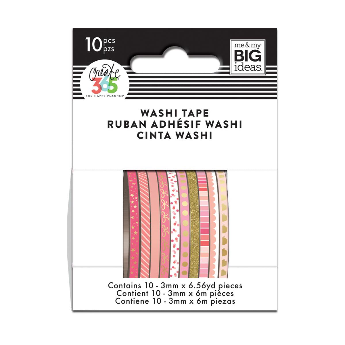 WTSS-07 Pink Hues Skinny Washi Tape - The Happy Planner