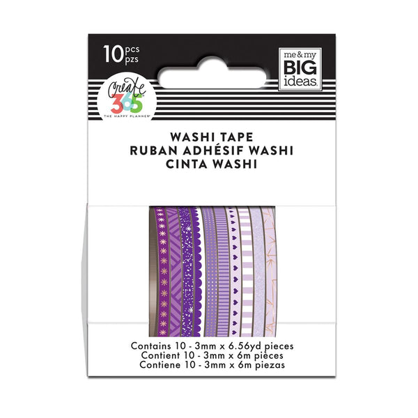 PURPLE HUES SKINNY WASHI TAPE : THE HAPPY PLANNER