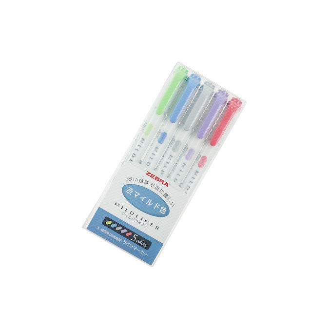 ZEBRA MILDLINER 5 COLOUR PACK - COOL & REFINED