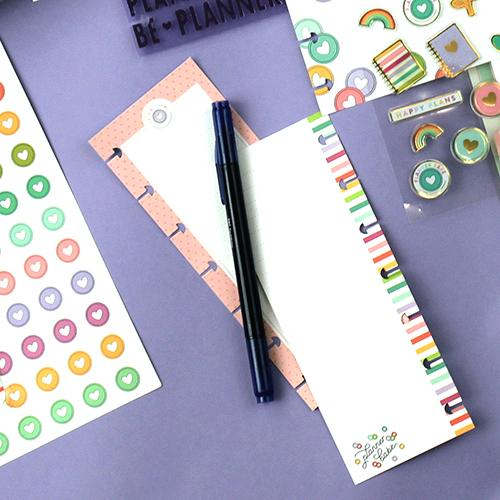 HALF-SHEET NOTE PAPER - PLANNER BABE : MINI HAPPY PLANNER