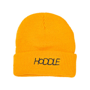 HODDLE 'LOGO' BEANIE YELLOW