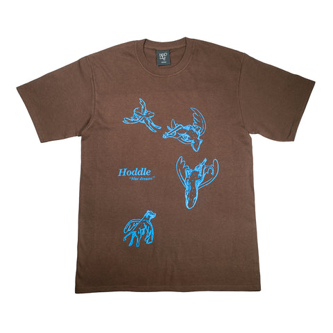 """BLUE DREAMS"" TEE BROWN/BLUE"