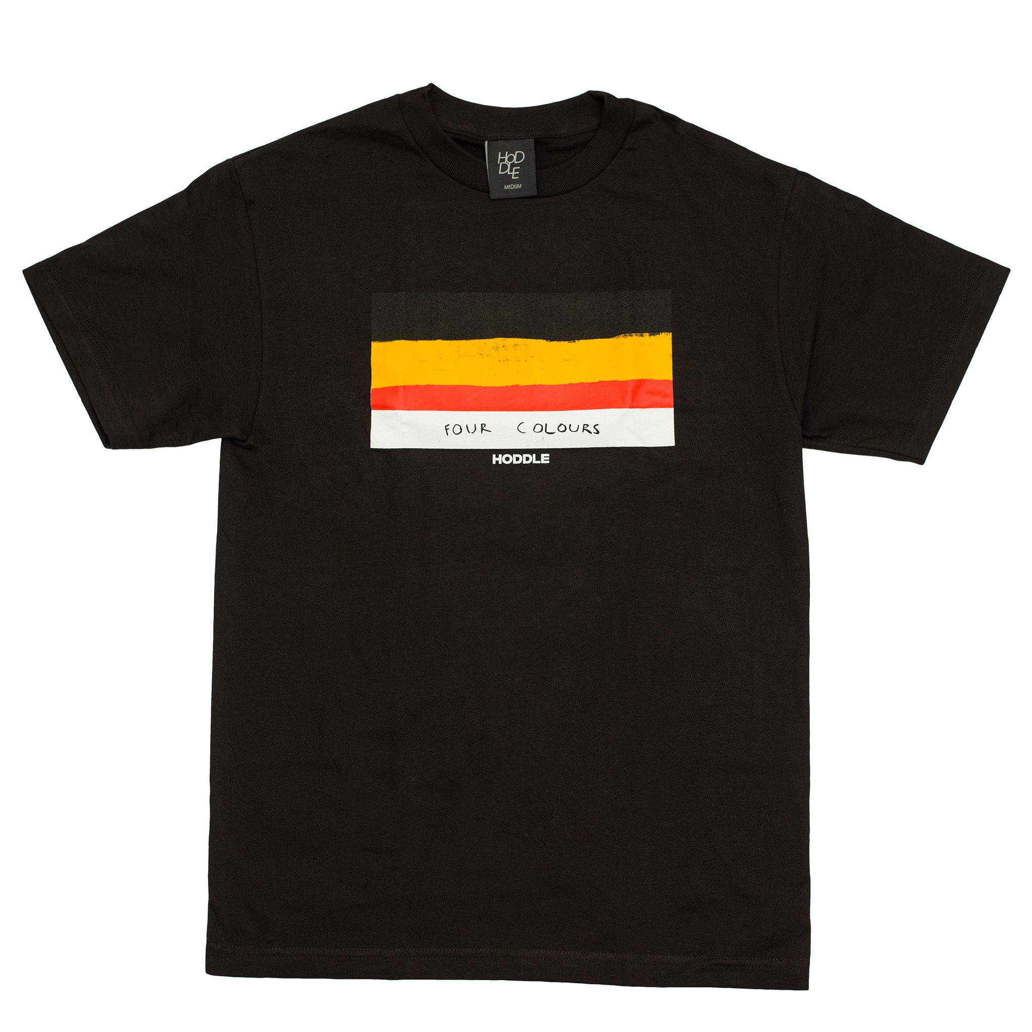 "HODDLE ""FLAG"" TEE BLACK skateboarding"
