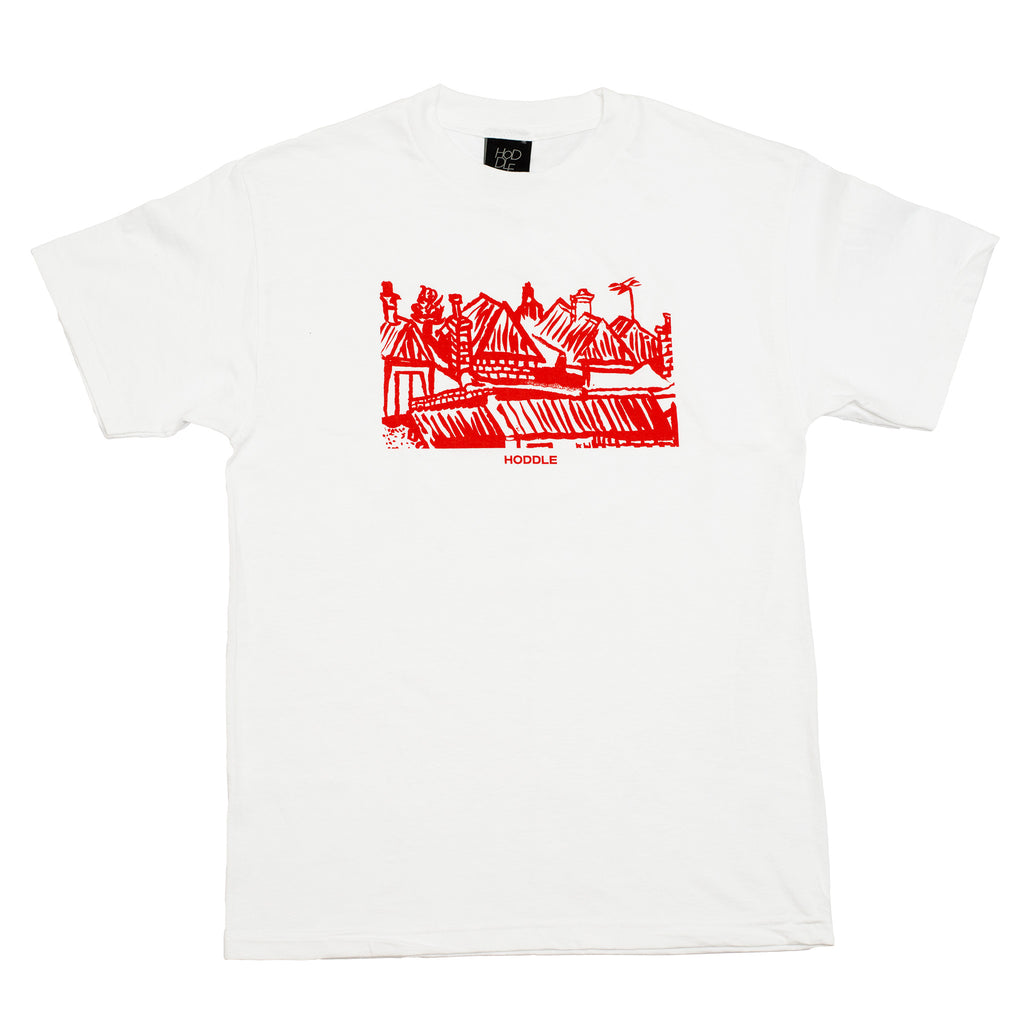 "HODDLE ""LANDSCAPE"" TEE WHITE & RED"
