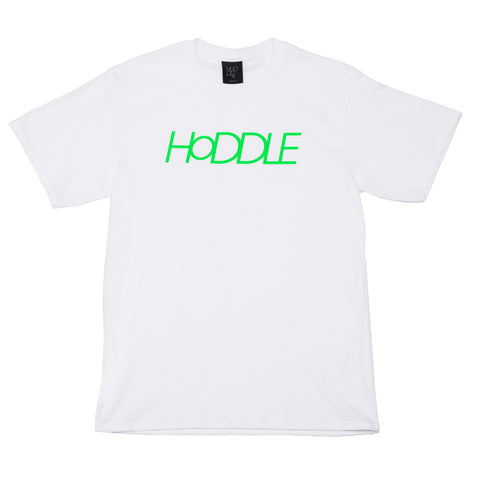 """LOGO"" TEE WHITE/LIME"