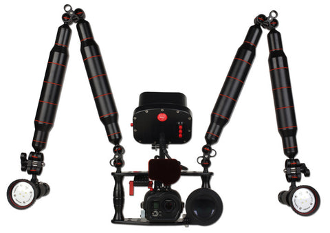 Hugyfot Housing GoPro Pro+ Kit 2 (Video Lighting set)