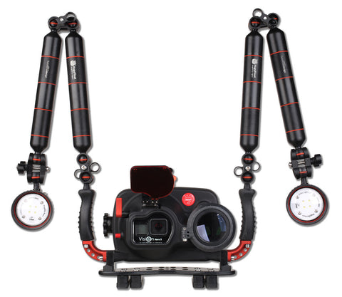 Hugyfot Vision Hero Behuizing + Macro Set + Arius Videoverlichting Kit