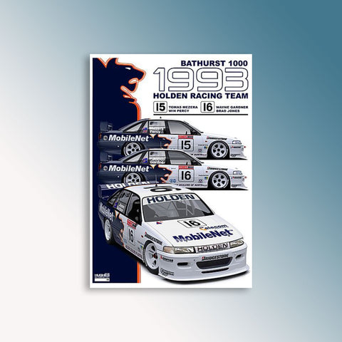 1993 Bathurst 1000 - Holden Racing Team, Peter Hughes Print