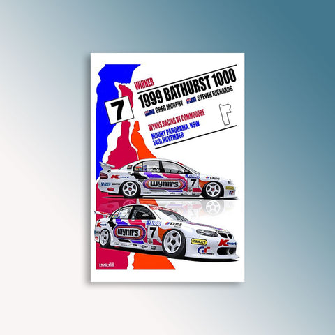 1999 Bathurst 1000 Winner - Murphy/Richards - Peter Hughes Print