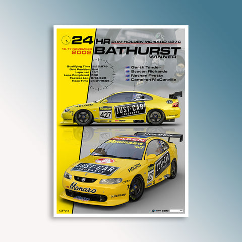 2002 Bathurst 24 Hour Winning Monaro, Peter Hughes Print