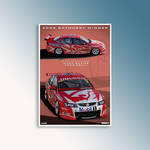 2005 Bathurst 1000 Winner - Skaife/T.Kelly, Peter Hughes Print