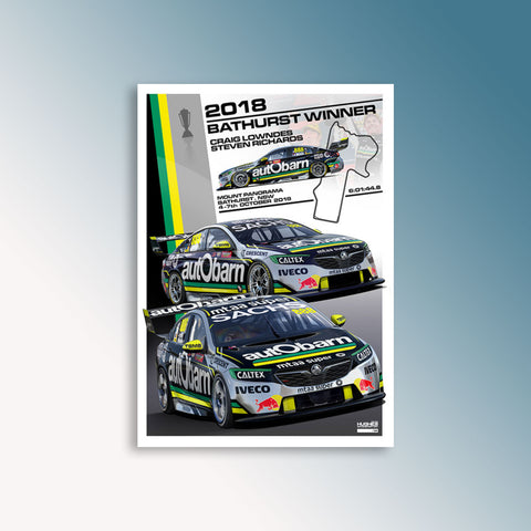 2018 Bathurst 1000 Winner - Lowndes/Richards, Peter Hughes Print (AP)