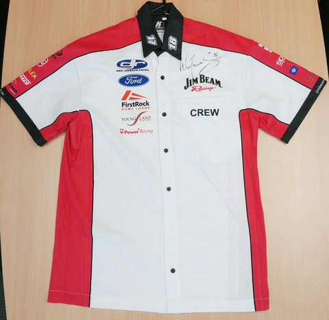 Signed - Will Davison DJR Jim Beam Racing Mens Crew Shirt