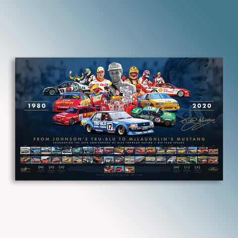 40th Anniversary of Dick Johnson Racing/DJR Team Penske Signed Limited Edition Print (PRE-ORDER)