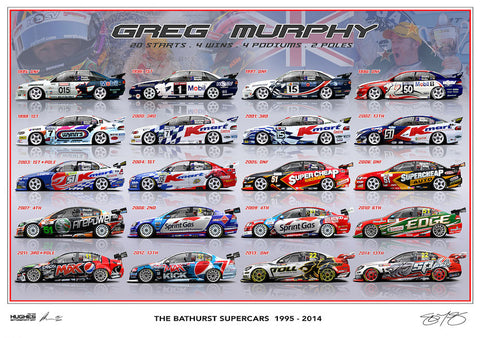 PRE-ORDER NOW - GREG MURPHY BATHURST SUPERCARS LIMITED EDITION PRINT