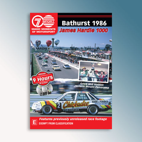 Bathurst 1986 James Hardie 1000 DVD
