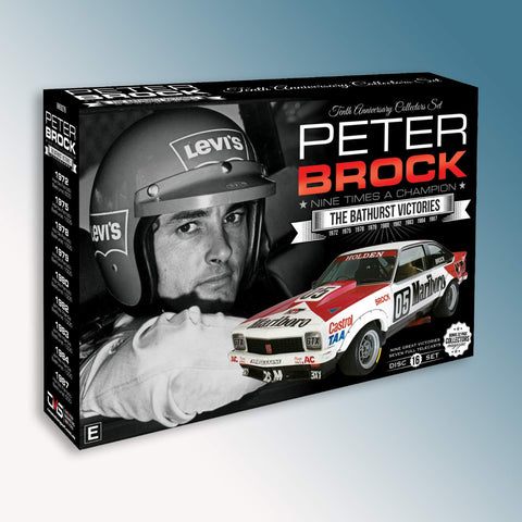 Peter Brock Nine Times a Champion - The Bathurst Victories DVD Box Set
