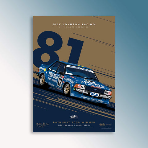 Dick Johnson Racing 1981 Bathurst Winner - Metallic Gold Limited Edition Signed Print (PRE-ORDER)
