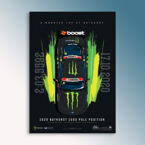 A Monster Lap Of Bathurst: Cameron Waters 2020 Bathurst 1000 Pole Limited Edition Print (PRE-ORDER)