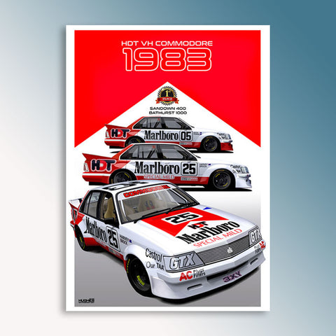 1983 Sandown/Bathurst Winners - HDT, Peter Hughes Print