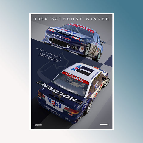 1996 Bathurst 1000 Winner, Peter Hughes Print