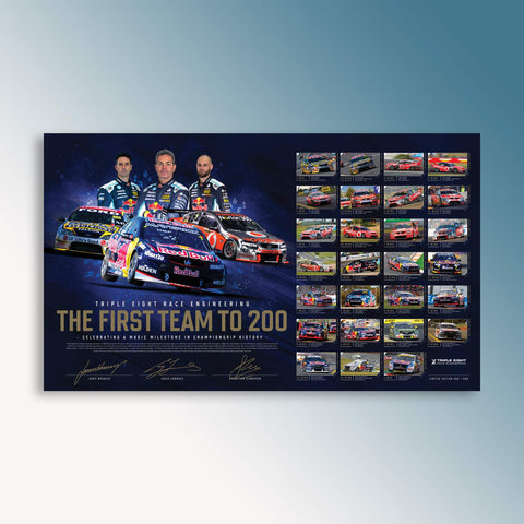Official Triple Eight 200 Wins Limited Edition Collector's Print