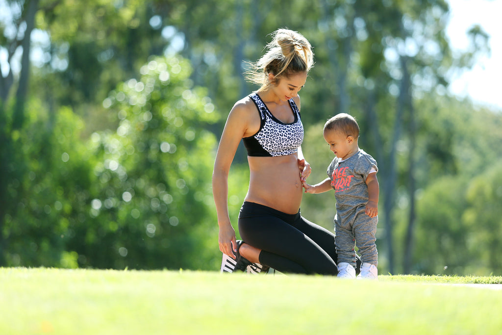 Chontel Duncan Fitness Expert With Son