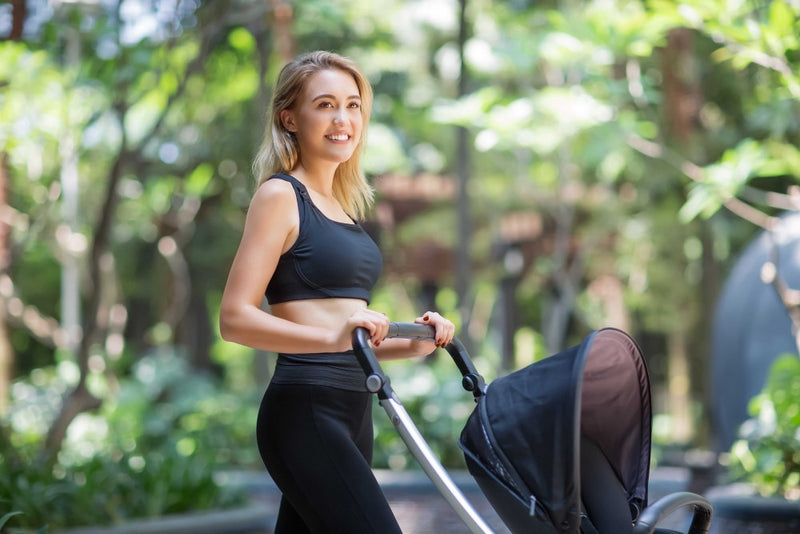 MOVEMAMÍ - 'LUNA' Nursing Sports Bra - Black Marble - MOVEMAMI - Best Maternity Activewear