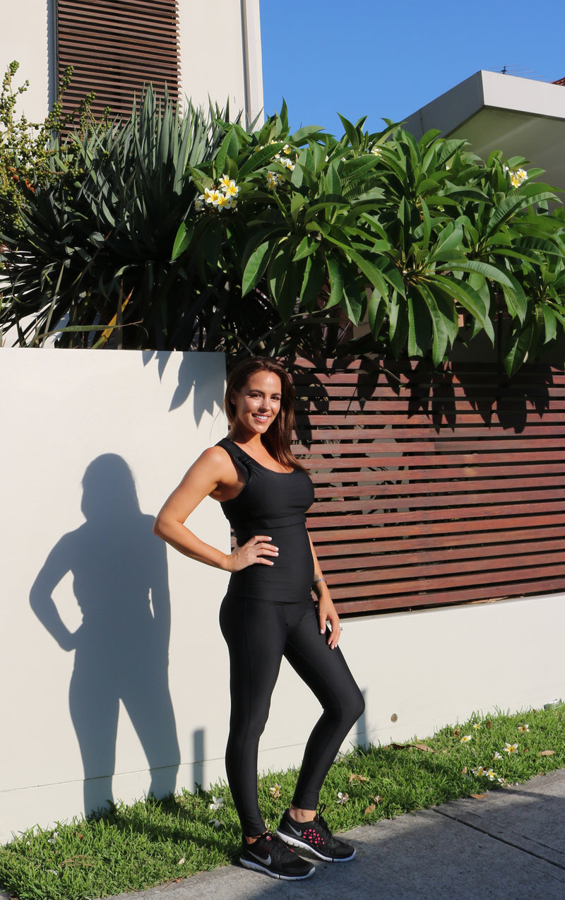 MOVEMAMÍ - 'LUNA' Nursing Sports Bra - Black Ink - MOVEMAMI - Best Maternity Activewear