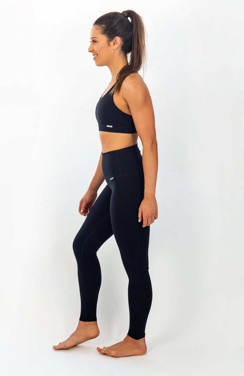 Zuma Sports Bra - Black Ink