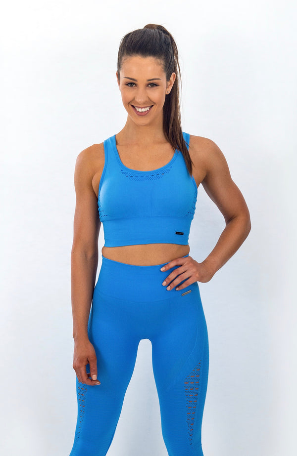 Bayview Seamless Sports Bra - Belize Blue
