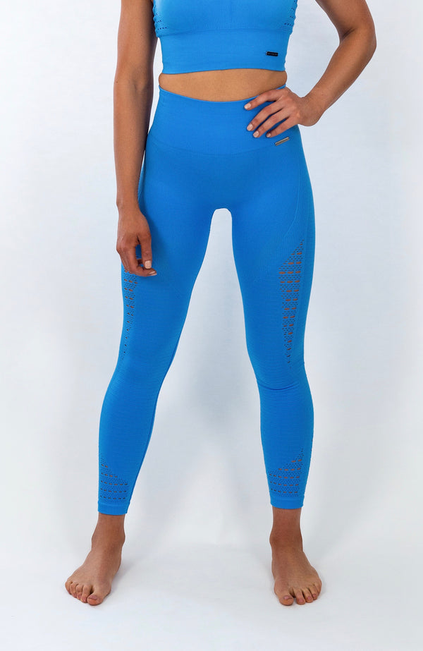 BIGOLA Seamless Leggings - 7/8 AnkleBiters - Belize Blue