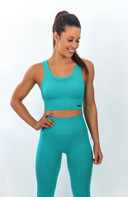 BAYVIEW Seamless Sports Bra - Blue Bahamas