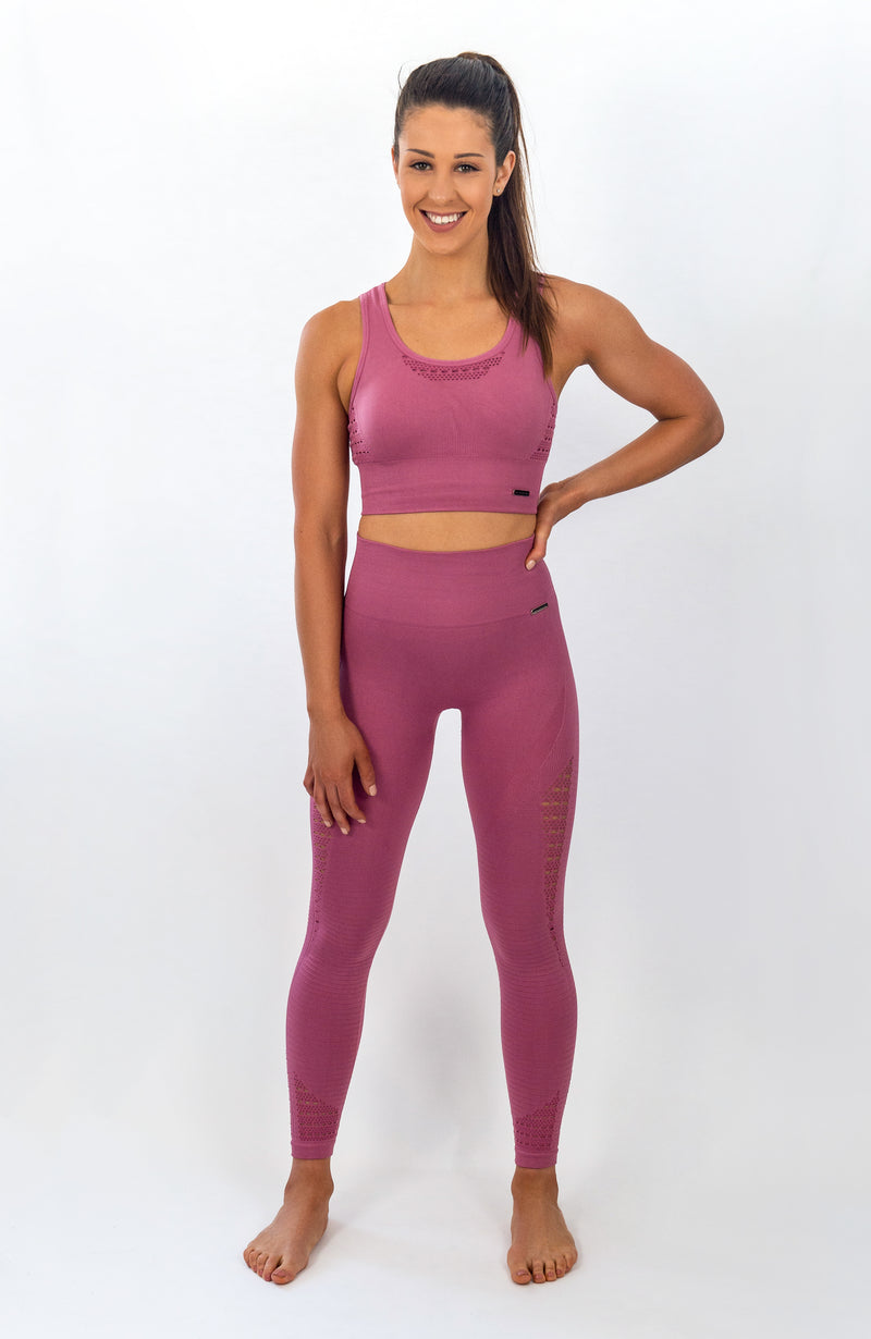 BIGOLA Seamless Leggings - 7/8 AnkleBiters - French Rose
