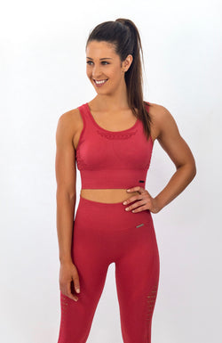 BAYVIEW Seamless Sports Bra - Ruby Red
