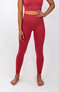 BIGOLA Seamless Leggings - 7/8 AnkleBiters - Ruby Red