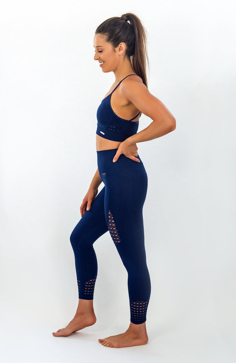 SEAFORTH Seamless Sports Bra - Midnight Blue