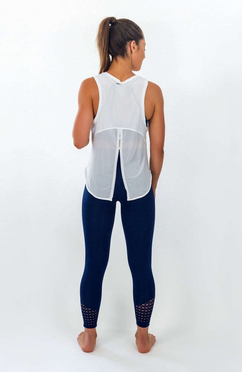 Crete Tie-Back Top - Snow White