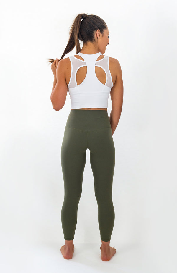 Paloma Leggings - Khaki Green