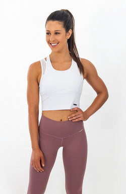 BALMORAL Sports Bra - Snow White