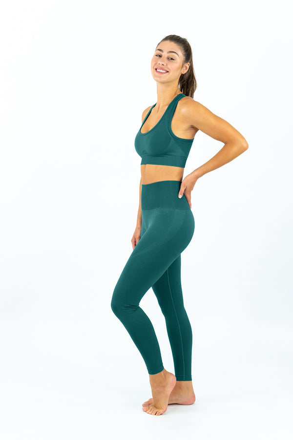 Avalon Seamless Sports Bra - Forest Green
