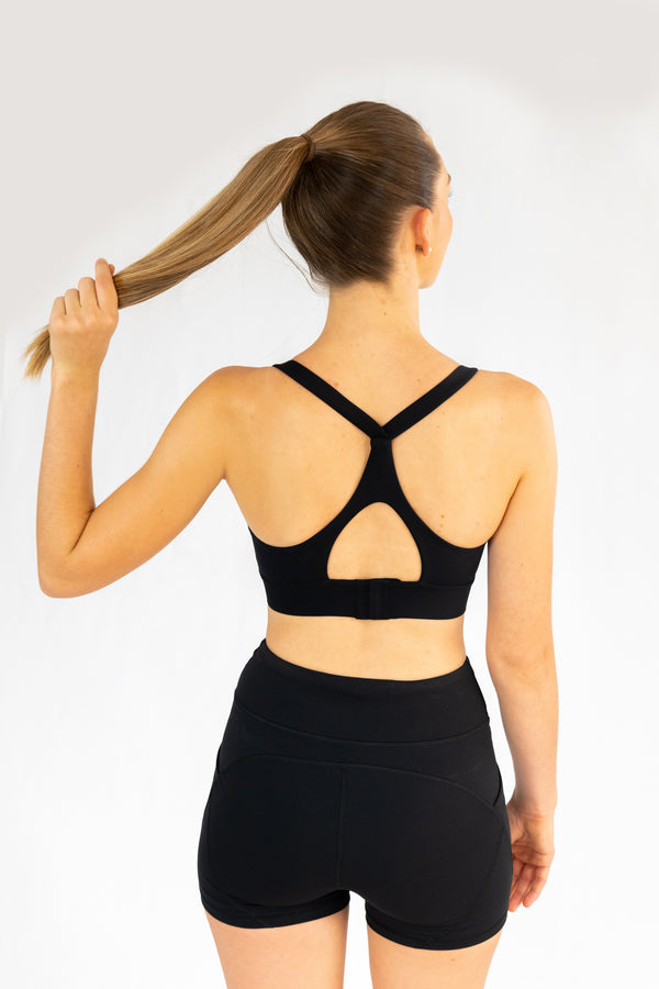 Georgia Sports Bra - Black Ink