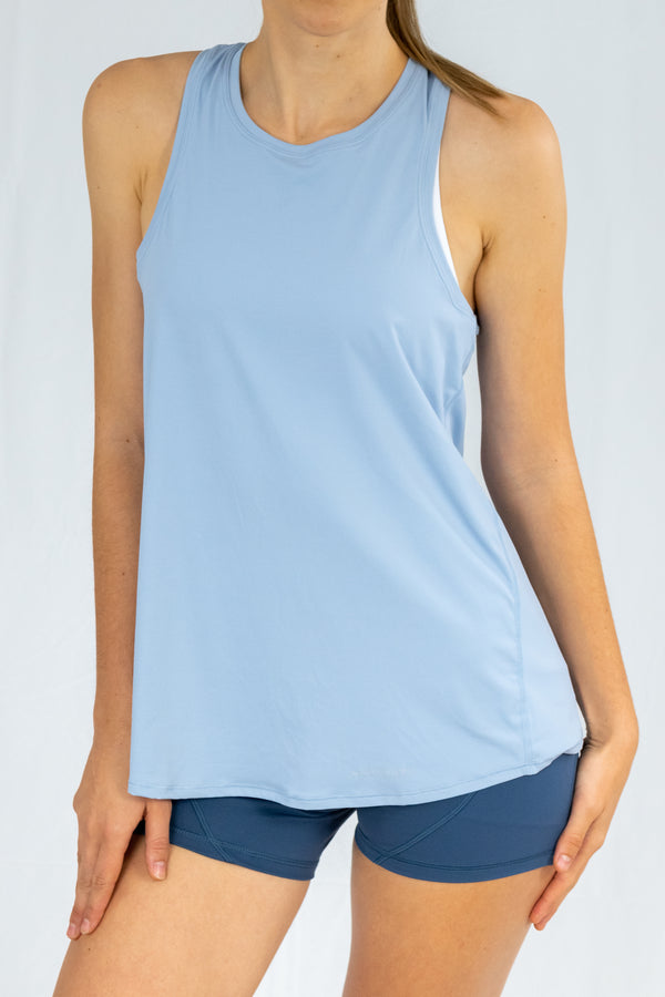 Corfu Tie-Back Top - Blue Floss